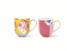 PIP Coffret 2 grand mug Royal Jaune rose - 32.5cl#