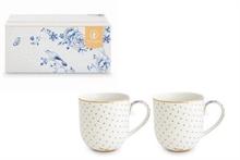 PIP Coffret 2 petit mug Royal Blanc