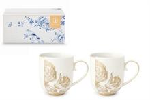 PIP - Coffret 2 grand mug Royal Blanc