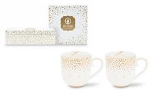 PIP Coffret de 2 petits mugs Royal Christmas Blanc - 26cl