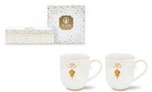PIP Coffret de 2 grands mugs Royal Christmas Blanc - 32.5cl