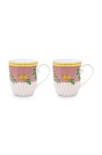 PIP - Coffret 2 Petit mug La Majorelle rose 145ml