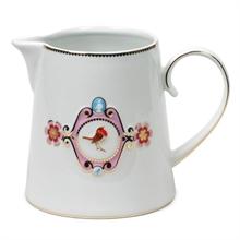 HC7 LB Pot à eau Blanc Médaillon Rose - 0,9L#