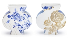 HC3 PIP - Vase plat Royal Blanc - 7.5x7.5x16cm#