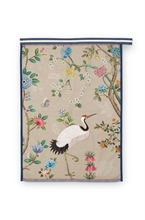 PIP - Torchon Blushing Birds All Over Print Kaki 50x70cm