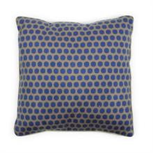 HC6 PIP Coussin Floral Big Dots Bleu/Kaki - 50x50cm #