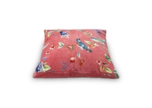 PIP - Coussin Birdy Floral2 velours Rose - 60x60cm