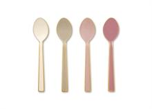 PIP Coffret 4 cuillères à café Email couvert Spring Blanc/Rose 16cm #