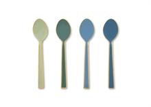 PIP Coffret 4 cuillères à café Email couvert Spring Vert/Bleu 16cm#