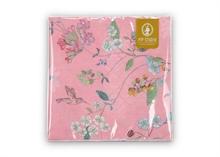 PIP Serviettes en papier Floral2 Hummingbirds rose