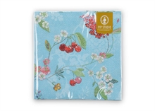 PIP Serviettes en papier Floral2 Hummingbirds bleu