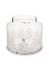 PIP Vase Floral Transparent sérigraphié - 21.5cm