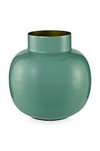 PIP Vase métal rond Blushing Vert 25cm
