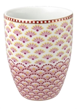 Verre à dents Blooming tails Rose blanc
