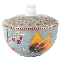 Pot à cotons Floral Fantasy Blooming tails  Bleu kaki