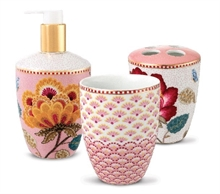 Coffret de 3 acc. bain Floral Fantasy Blooming tails Rose blanc
