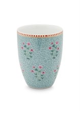 PIP Verre à dents / Grand mug Floral2 Bleu - 30cl