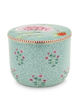HC3 PIP - SDB Pot à coton Floral2 Good Morning Bleu - 11,5cm