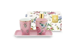 HC3 PIP - SDB Coffret 3 accessoires bain Floral2 Good Morning Rose