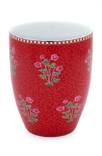HC3 PIP - SDB Verre à dents / Grand mug Floral2 Good Morning Rouge - 30cl