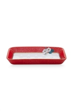 PIP - SDB Porte savon Floral2 Good Morning Rouge - 14x9.5x2cm