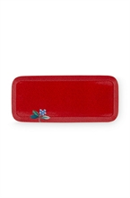 HC3 PIP - SDB Plat rectangle bain Floral2 Good Morning Rouge - 27x12x1.5cm