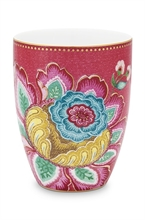 PIP - SDB Verre à dents / Grand mug Jambo Flower Rose 300ml