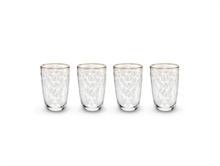 HC2 PIP - Coffret 4 verre à eau longdring Floral2 - 28cl - #