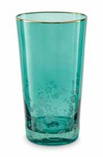 HC2 PIP - Verre a eau Gravé vert Blushing Birds - 260ml - #
