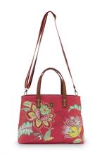 PIP - BAG Sac Shopper Small Jambo Flower Rouge - 33/39x10x22cm