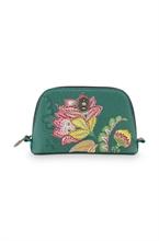 PIP - SDB Cosmetic Bag Triangle Small Jambo Flower Vert - 19/15x12x6cm