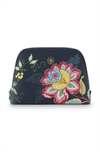 PIP - SDB Cosmetic Bag Triangle Large Jambo Flower Bleu - 29x20,5x9,5cm