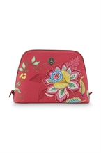 PIP - SDB Cosmetic Bag Triangle Large Jambo Flower Rouge - 29x20,5x9,5cm