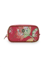 PIP - SDB Cosmetic Trousse rectangulaire Jambo Flower Rouge - 20x10,5x7,5