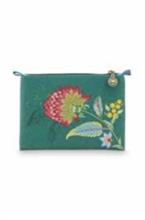 PIP - SDB Cosmetic Flat Pouch Small Jambo Flower/Blurred Vert - 19,5x13x1