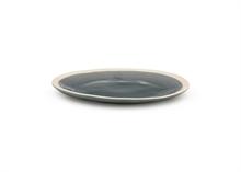 Assiette plate gris finition craquelé 16 cm