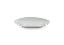 Assiette plate Pois Gris clair - 24.5cm