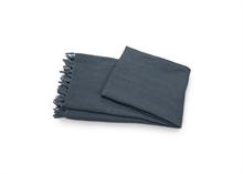Plaid en lin lavé couleur gris foncé - 130x170cm