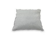 Coussin coton lin rayures Gris moyen - 45x45cm