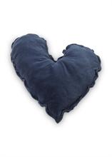 HC5 VTW FW18 Coussin coeur Velvet Bleu océan 50cm #