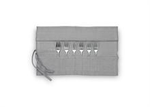 HC5 VTW Basic Coffret tissu 6 fourchettes à gâteau Argent mat #