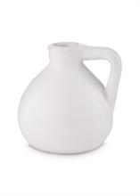 Amphore céramique ronde blanc mat 11cm