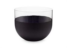 Vase Noir mat/transparent 22cm