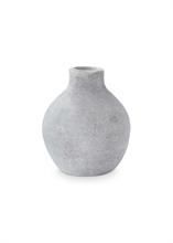 Vase céramique rond Gris béton 11cm