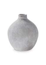 Vase céramique rond Gris béton 20.5cm