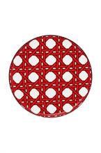 DFL Assiette petit four Webbing Rouge 12cm