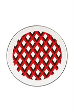 DFL Assiette creuse Scales Rouge 21.5cm