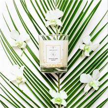 Bougie parfumée - Jardin du Monde - J exotique - Fleur de tiaré Monoï 45h - 180g