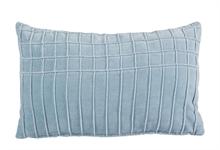KAAT Coussin Aura Bleu ciel  - 30x50cm - 100% velours