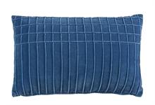 KAAT Coussin Aura Bleu  - 30x50cm - 100% velours